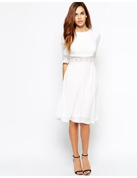 elise-ryan-midi-skater-dress-with-lace-trim by elise-ryan