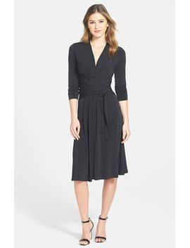 faux-wrap-fit-&-flare-dress by michael-michael-kors