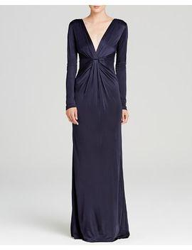 diane-von-furstenberg-maxi-dress by v-neck
