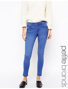 new-look-petite-bright-blue-skinny-jeans by new-look-petite