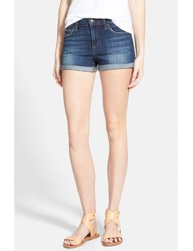 rolled-denim-shorts by joes