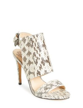 fandy-snake-embossed-leather-sandal by vince-camuto