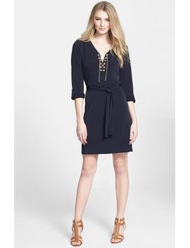 chain-lace-jersey-dress by michael-michael-kors