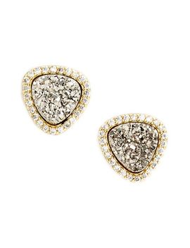 triangle-drusy-stud-earrings by marcia-moran