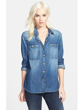 slim-boyfriend-denim-shirt by 7-for-all-mankind®