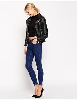 asos-lisbon-skinny-mid-rise-ankle-grazer-jeans-in-darnell-deep-blue by asos-collection
