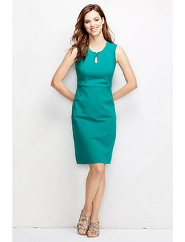 womens-tall-ponté-keyhole-sheath-dress by lands-end