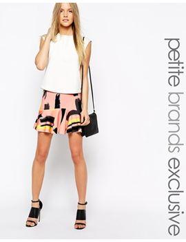 vero-moda-petite-brush-stroke-skirt by vero-moda-petite
