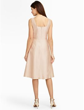 doupioni-fit-and-flare-dress by talbots