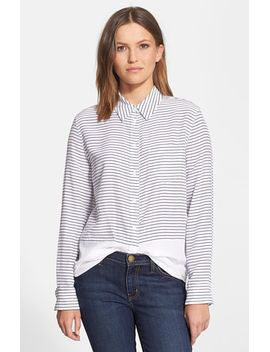 reese-stripe-colorblock-silk-shirt by equipment