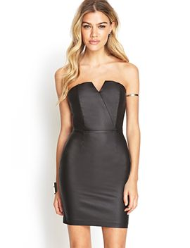 strapless-coated-dress by forever-21