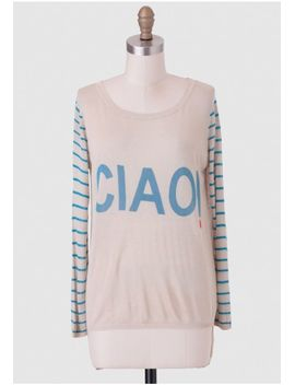 ciao-stripe-sweater by ruche