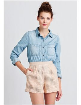 on-the-dock-eyelet-shorts by ruche