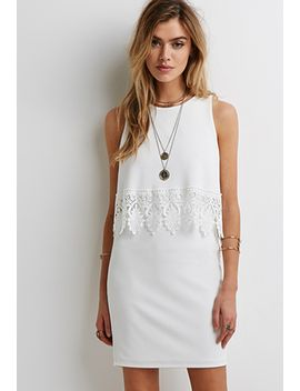 crochet-trim-layered-dress by forever-21