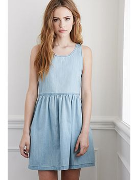 denim-babydoll-dress by forever-21