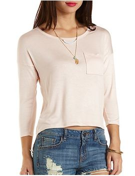 embroidered-back-high-low-tee by charlotte-russe