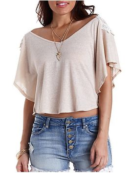 embroidered-back-poncho-tee by charlotte-russe
