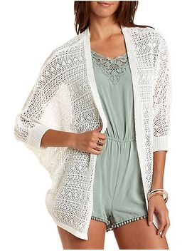 open-knit-cocoon-cardigan by charlotte-russe