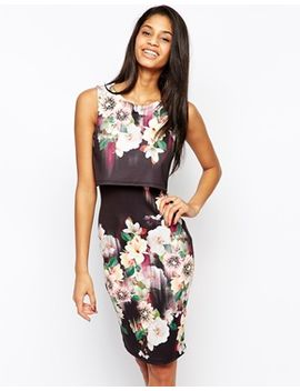 lipsy-2-in-1-floral-printed-bodycon-dress by lipsy