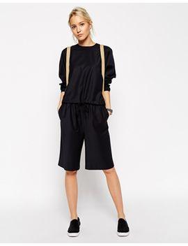 asos-white-wool-elastic-waist-culottes by asos-white