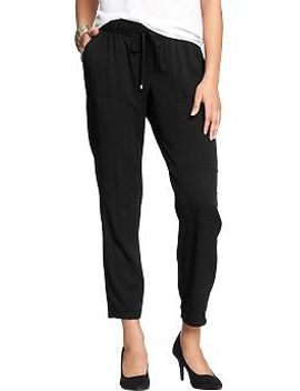womens-drapey-twill-pants by old-navy