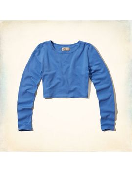 must-have-long-sleeve-crop-top by hollister