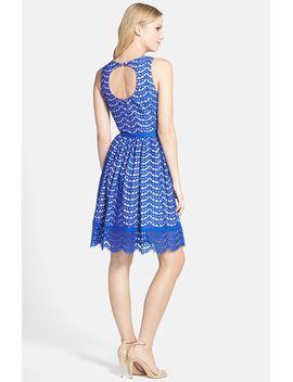 belted-lace-fit-&-flare-dress by eliza-j