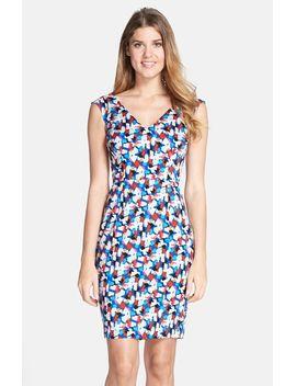 selah-graphic-print-cutout-sheath-dress by plenty-by-tracy-reese