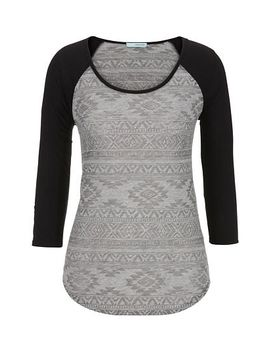 ethnic-print-baseball-tee by maurices