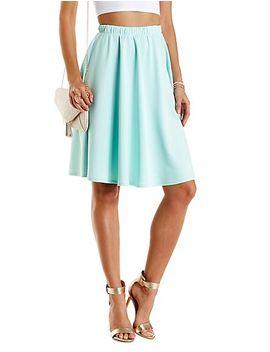 scuba-knit-full-midi-skirt by charlotte-russe