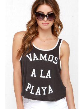 billabong-vamos-a-la-playa-washed-black-tank-top by billabong