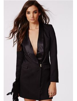 violette-blazer-dress-black by missguided