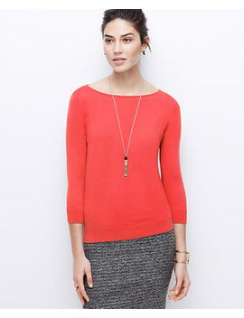 3_4-sleeve-boatneck-sweater by ann-taylor