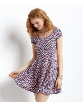 ikat-cap-sleeve-dress by aeropostale