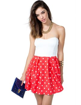 karlie-dot-flare-dress by agaci