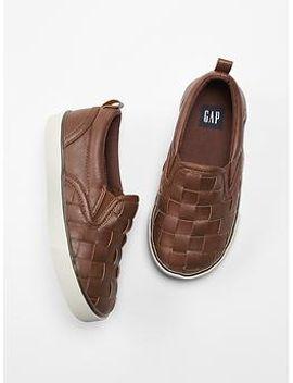 woven-slip-on-sneakers by gap