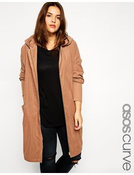 asos-curve-exclusive-hooded-soft-coat by asos-curve
