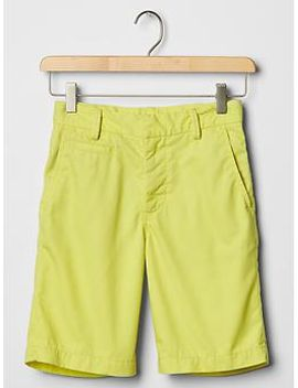 lived-in-flat-front-shorts by gap
