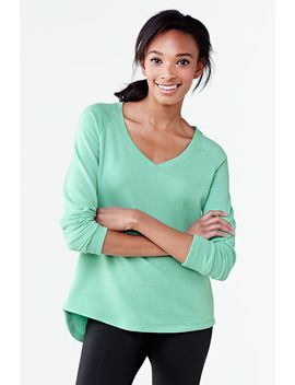 womens-activewear-v-neck-sweatshirt by lands-end