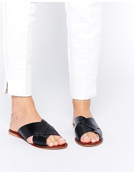 asos-flick-leather-sliders by asos-collection