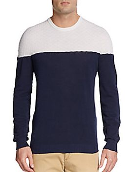colorblock-cashmere-blend-sweater by giorgio-armani