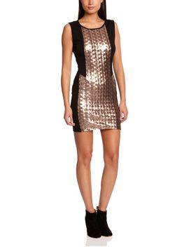 neon-rose-sequin-panel-bodycon-womens-dress by neon-rose