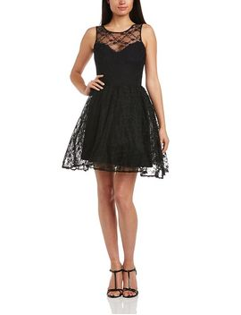 john-zack-womens-lace-skater-sleeveless-dress,-black,-size-12 by john-zack