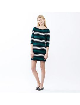 women-striped-3_4-sleeve-dress by uniqlo