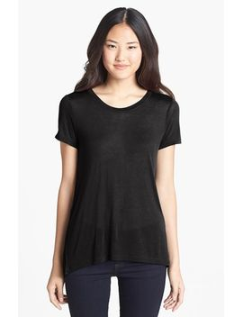 lightweight-high_low-seamed-back-tee by halogen®