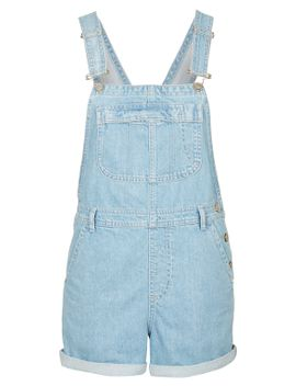 moto-bleach-short-dungarees by topshop