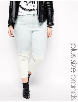junarose-ombre-skinny-cropped-jeans by junarose