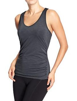 womens-old-navy-active-ruched-tanks by old-navy