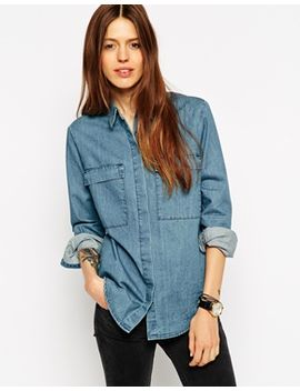 asos-denim-boyfriend-shirt-with-utility-styling by asos-collection