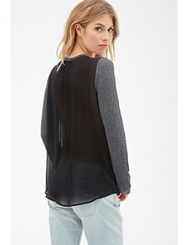 contemporary-chiffon-back-heathered-top by forever-21